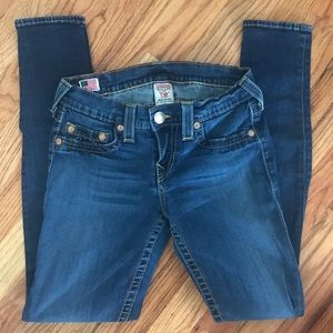 True religion Casey skinny jean size 27